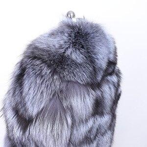Image 5 - MAO mao KÔNG mùa đông thực cáo lông Áo khoác nữ vải dù tự nhiên thật cáo lông nữ áo khoác nữ áo Khoác Da Lót Lông