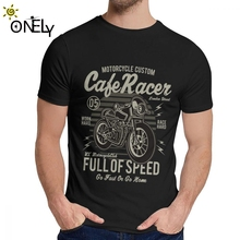 Vintage Motorcycle Cafe Racer T Shirt Chopper King Of  Road Motor Motorbike T-shirt Round Collar New Mens 100% Cotton