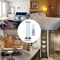 36W Mobile Ultraviolet Lamp with Timer Remote Control Disinfection Lamp Sterilization Germicidal UV Lamp 220V
