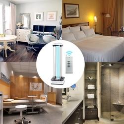 Lámpara Ultravioleta móvil de 36W con temporizador lámpara de desinfección por Control remoto lámpara esterilización germicida UV lámpara 220V