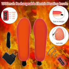 1900mah Rechargeable Electric Heating Insole Remote Three-Speed Thermostat Heating Insole for Skiing and Keeping Warm in Winter