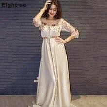 Женское вечернее платье с длинным рукавом eightree кружевами