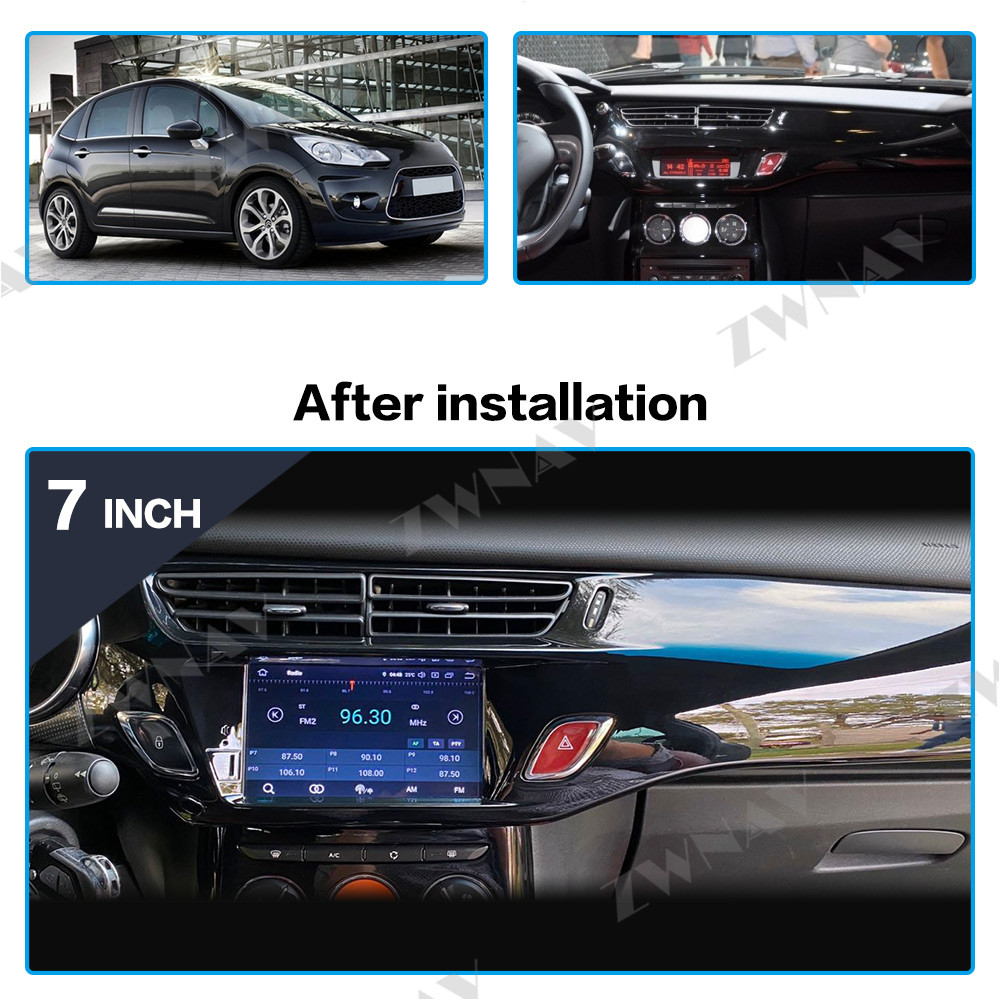 IPS Android 9.0 Car Multimedia Player For Citroen C3 DS3 2011-2016 Car Audio Radio Stereo Gps Glonass Navigation Wifi Head Unit