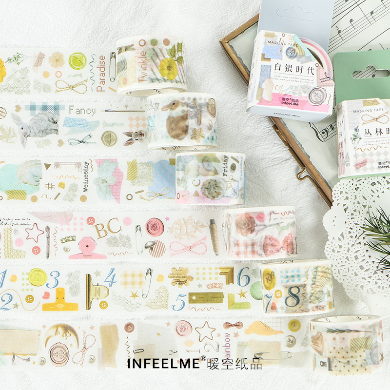 Fields And Gardens Forest Vintage Washi Tape Diy Decoration Scrapbooking Planner Masking Tape Label Sticker Stationery