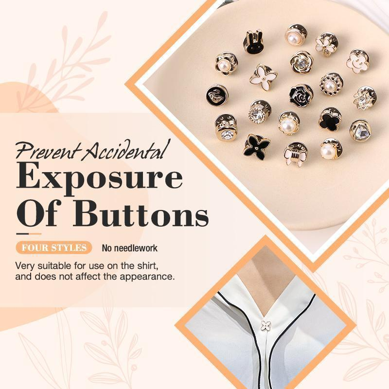 Prevent Accidental Exposure Of Buttons Fashion Metal Magnet Button For Diy Bags Snaps Buttons Clasp Fastener Snap Button Sewing