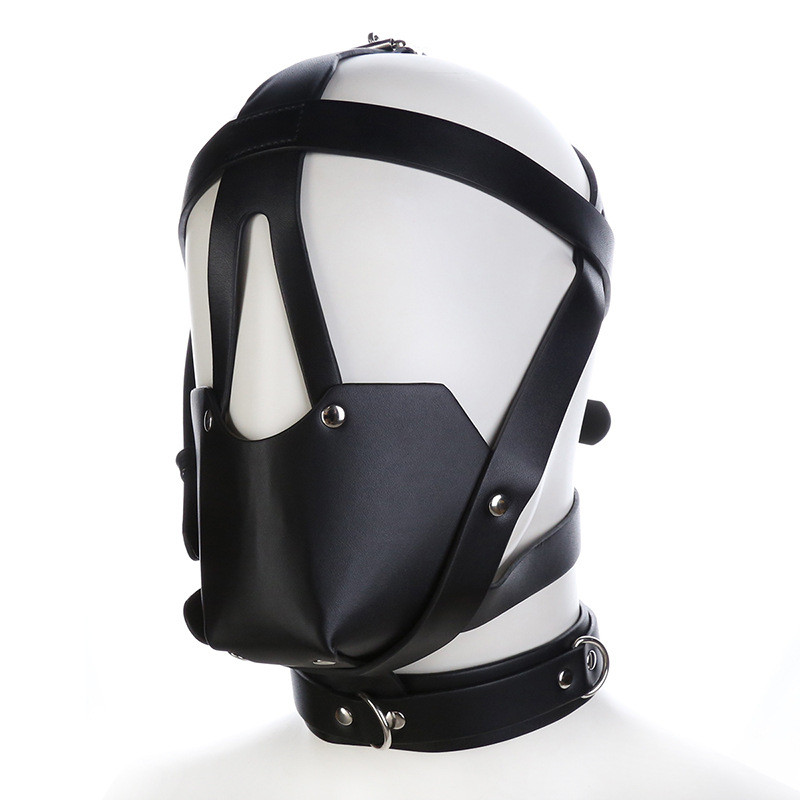 Leather Mask Hood Mouth Ball Gag Bdsm Bondage Sex Toys For Couples Tools For Sale Slave Sextoys Restraints Eroticos Restraints