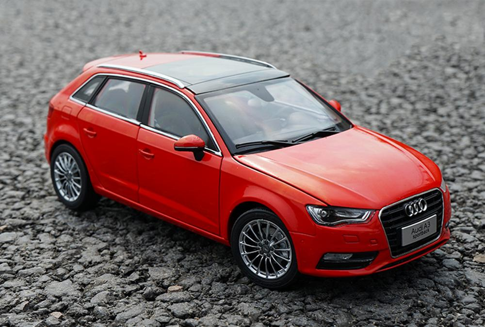 1/18 Scale <font><b>Audi</b></font> <font><b>A3</b></font> Sportback Red DieCast <font><b>Car</b></font> Model <font><b>Toy</b></font> Collection Gift image