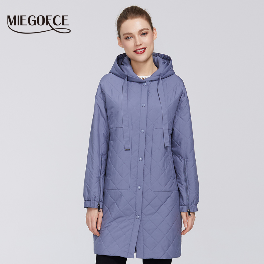 MIEGOFCE 2020 New Collection Designer Women Jacket Warm Windproof Cotton Coat Spring Jacket With Resistant With Hood Zipper