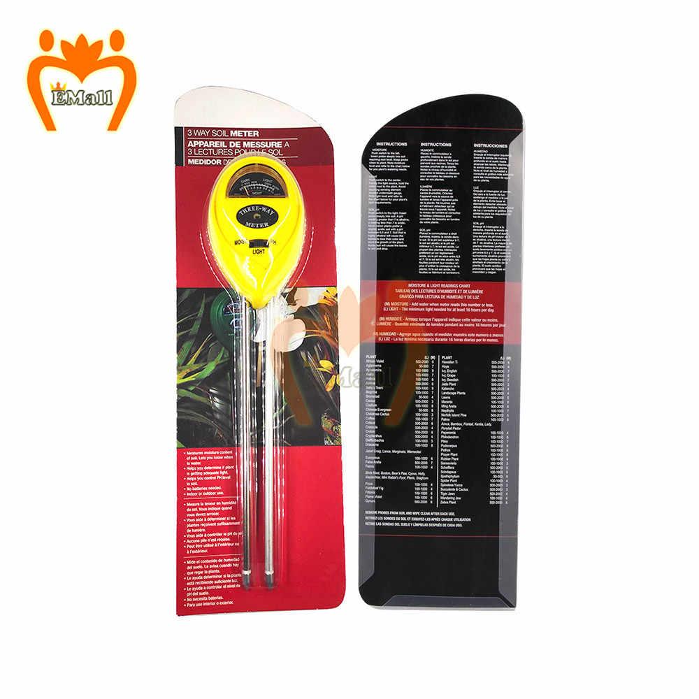 3 в 1 почвы измеритель влажности PH солнца светильник тестер цветы Наборы завод Освещенность анализатор Измеритель светильник завод влажности гигрометр