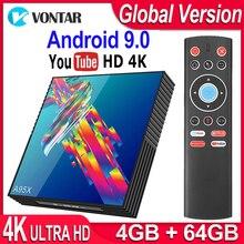 صندوق التلفزيون أندرويد 9.0 A95X R3 الذكية صندوق التلفزيون 4GB RAM أندرويد صندوق التلفزيون 9.0 USB3.0 المزدوج واي فاي يوتيوب 4K ميديا بلاير pk X96 صندوق تليفزيون صغير
