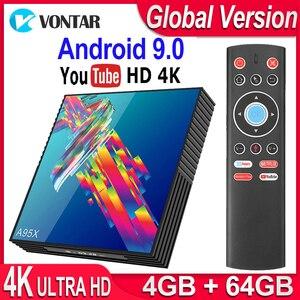 Image 1 - صندوق التلفزيون أندرويد 9.0 A95X R3 الذكية صندوق التلفزيون 4GB RAM أندرويد صندوق التلفزيون 9.0 USB3.0 المزدوج واي فاي يوتيوب 4K ميديا بلاير pk X96 صندوق تليفزيون صغير