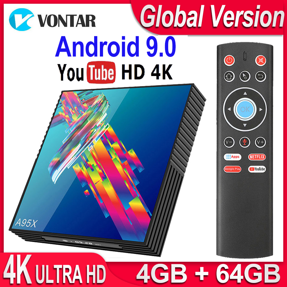 TV Box Android 9.0 A95X R3 Smart TV Box 4GB RAM Android TV Box 9.0 USB3.0 Dual Wifi Netflix Youtube 4K Media Player Pk X96 Mini