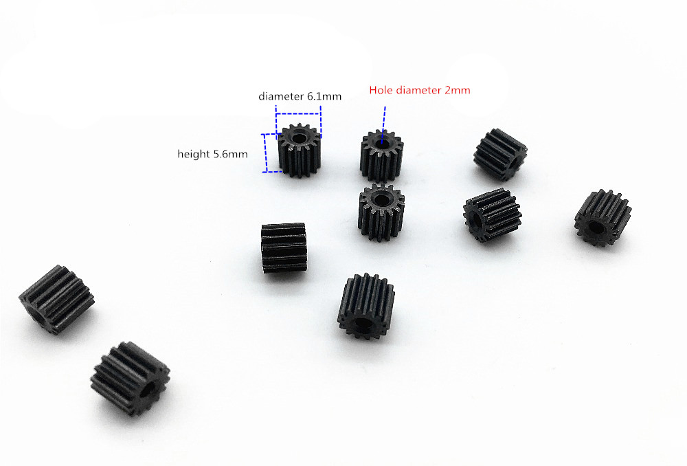 0.4M 14T Motor Shaft Gear Height 5.6mm Diameter 6.1 Mm For 2.0MM Shaft HOLE Diameter