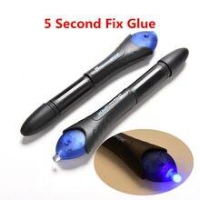 Stylo à colle à lumière Uv pour soudage plastique liquide Super puissant, fixation rapide en 5 secondes, stylo à colle dans le calfeutrage, outil de réparation de ligne de téléphone portable avec colle