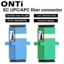 ONTi 200 Pcsไฟเบอร์ออปติกอะแดปเตอร์SC/UPC SM Singlemode Simplex SC SC APC Couplerขายส่ง