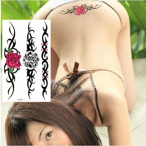 Watercolor Flower Temporary Body Tattoo So Beautiful Can Be Used For Shoulder,thigh, Or Back Body Decor