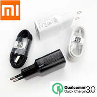 Original XiaoMi Mi9 QC 3.0 Fast Charger 18W 12V1.5A Quick Charge Power adapter usb Type C Cable For mi8 9t se mi a3 redmi note 7