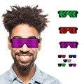 Фиолетовый  синий  красный  зеленый  белый светильник  очки  светодиодные вечерние светящиеся очки  светящиеся солнцезащитные очки  рождест...