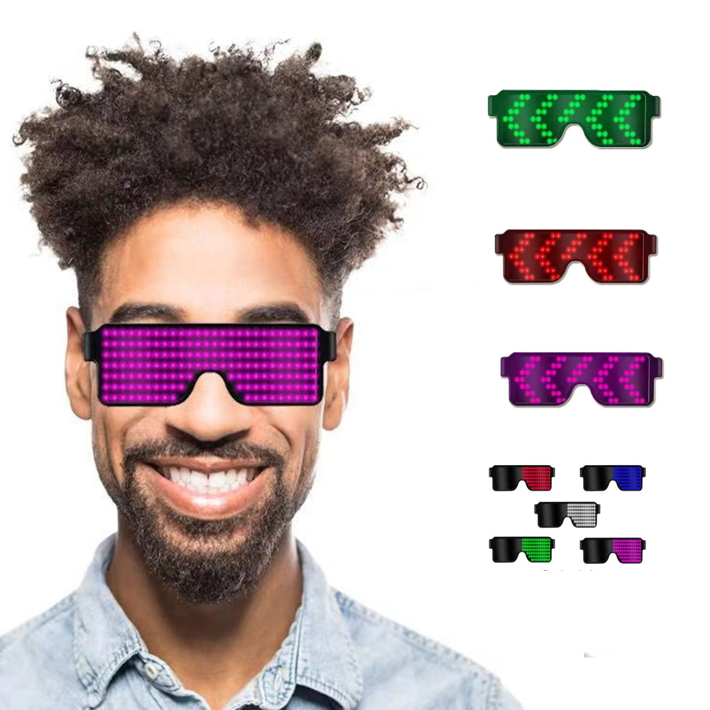 Purple Blue Red Green White Light Glasses Led Party Luminous Glasses Glow Sunglass Christmas Concert Light Toys Personal Props