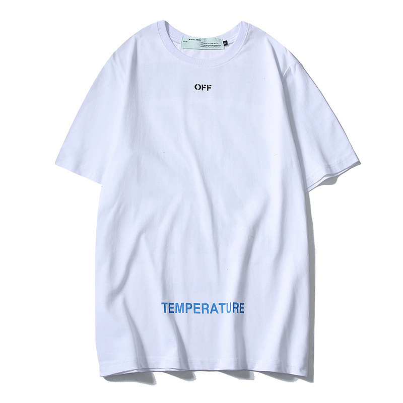 Off Ow White 19ss New Style Popular Brand Base Stripes Short Sleeve Tee Men And Women Base Shirt Short Sleeve T-shirt