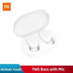 Original Xiaomi AirDots Youth Edition TWS Mini Wireless Bluetooth Earphone V5.0 Bass Stereo Handsfree Music Sport Earbuds Mic