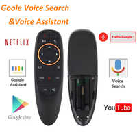 G10 G20 G30 Voice Remote Control 2.4G RF Gyroscope Wireless Air Mouse IR Learning for X96 H96 HK1 AM6 pro X2 PRO Android TV Box