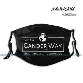 Do It The Gander Nfld Way Anti Pollution Dust Face Mask Washable And Reusable Pm2.5 Black Mask Cfa Come From Away Bway Broadway image