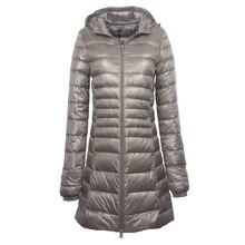 Wipalo 7XL Plus Size Long Down Jacket Women Winter Ultra Lig