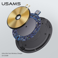 USAMS 15W Fast Wireless Charger for iPhone 12 Pro Max 11 Pro Xs Max X Induction Wireless Charging Pad for Samsung Xiaomi Huawei