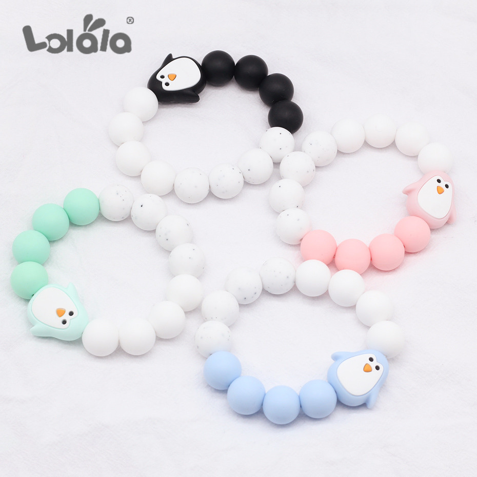 Cute Safe Natural Wooden Animal Shape Ring Baby Teether Teething Toy Shower J