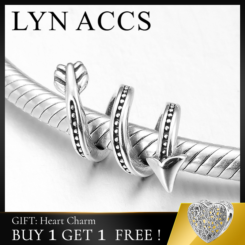 New Fashion 925 Sterling Silver Sweet Love Cupid Arrow Charms Beads Jewelry Making Fits Original Pandora Charms Bracelet Bangles