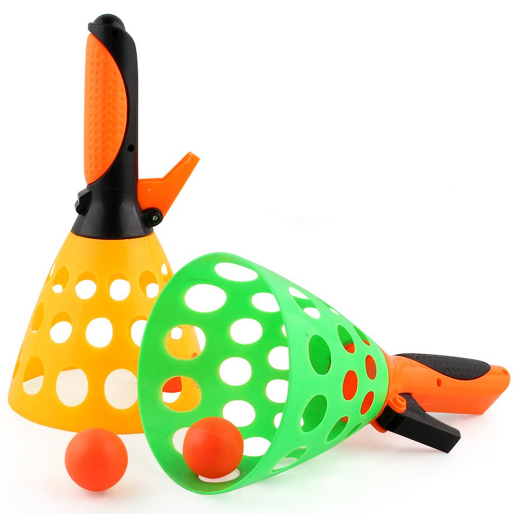 1 Set Parent-child Catapult Table Tennis Launch Ball Perfect Toy For Kids Outdoor Interactive Rubber Balls Ping Pong Balls Toys