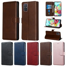Etui For Samsung Galaxy A51 A71 5G Leather Case on for Coque Samsung A70 A50 A20 A80 A10 E S A31 A41 A11 Cover Flip Phone Cases(China)