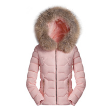 Big size S-3XL Warm Coat Hooded Down Jacket Winter lady Padded Thin Lady Zipper Short Thickening Women Cotton Outerwear