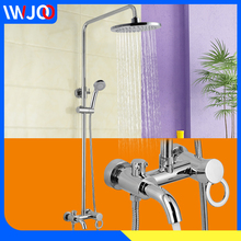 Bathroom Shower Faucet Set Waterfall Bathtub Faucet Mixer Water Saving Shower Head Rainfall Wall Mounted Bath Shower Tap Torneir female g spot rabbit dildo vibrators orgasm adult toys powerful masturbation sex toy for women vagina clitoris adult sex product