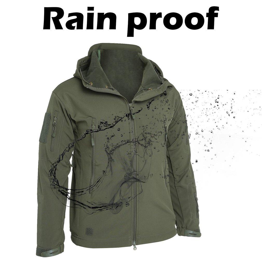 Hot sale Outdoor Soft Shell Fleece Men And Women Windproof Waterproof Breathable Warm Three In One Coat Shark Leather Jacket Hiking Jackets    - title=