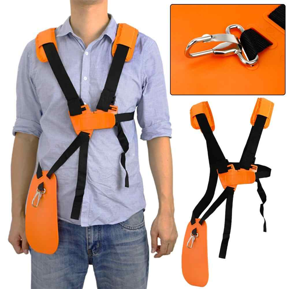 Adjustable Strimmer Double Breasted Bahu Harness Tali untuk Sikat Pemotong Pemangkas Padded Belt Garden Protection Panel