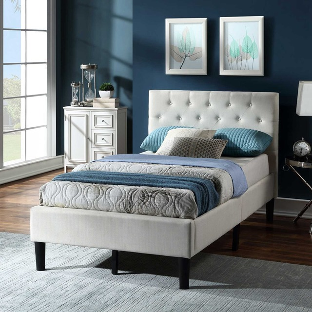 Twin Size Upholstered Bed Frame  3
