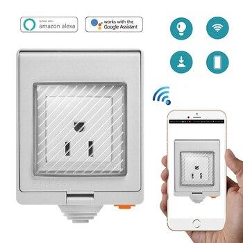 Sonoff S55 Waterproof Wifi Smart Socket Switch UK/AU/US/FR/DE/ZA Multiple Version Wifi Socket Works With Alexa Google Home basic