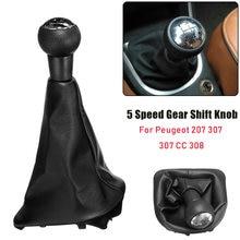Perilla de palanca de cambios de 5 velocidades para maletero de coche, palanca de cambios para Peugeot 206 306 307 308 3008 para Citroen Saxo C2 C4 Picass