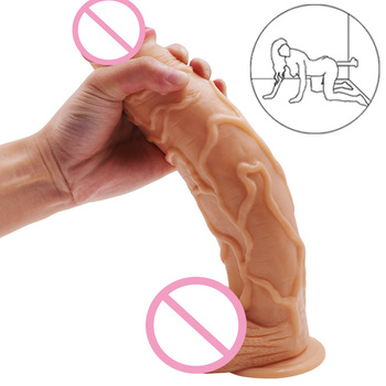 11.8/2.16 Inch Huge Realistic PVC Big Dildo Penis Dong with Suction Cup for Women Masturbation Lesbain Sex Toy