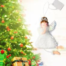 Merry Christmas Ornaments Plush Angel Home Decor Tree Doll Closet Hanging Pendant Decorations