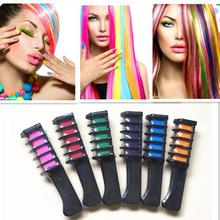 Do włosów tymczasowych Pro Mini kredki kredki 6 kolorów do do włosów Multicolor barwnik grzebień do farbowania włosów przybory do pielęgnacji i stylizacji włosów tanie tanio 20160964 110g Kolor włosów 6 pcs FTRFS-6A Orange Red Green Blue Rose red Purple Hair dye Dye hair comb In commom use 2 years