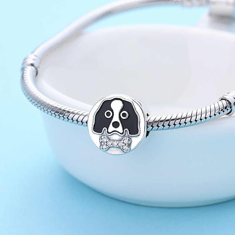 Fit פנדורה קסמי כסף 925 מקורי כלב וכלב עצם חרוזים קסם צמיד פילטרים תכשיטים מתנה עבור נשים סיטונאי