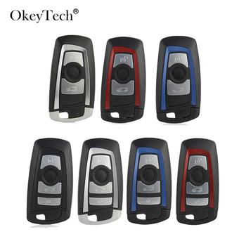 OkeyTech 3 4 przycisk inteligentny obudowa pilota z kluczykiem samochodowym Fob dla BMW CAS4 F 3 5 7 serii E90 E92 E93 X5 F10 F20 F30 F40 etui na klucze pokrywa tanie i dobre opinie CN (pochodzenie) Car Key Cover For BMW F10 F20 F30 F40 Replacement Remote Key Case For BMW E90 E92 E93 ABS+Metal China Car Key Shell For BMW CAS4 F 3 5 7 Series
