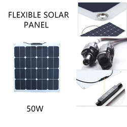 High quality solar panel roofing sheets 50w Sunpower flexible solar panel system 50w