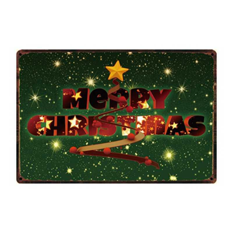 [Kelly66] Buon Natale Felice Anno Nuovo In Metallo Segno di Latta Poster Complementi Arredo Casa Bar Arte Della Parete Della Pittura 20*30 CM Formato Dy93