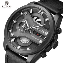 Men's Fashion Sport Chronograph Watch Men Leather  Band Waterproof Quartz Watches Military Luxury Male Date Relogio Masculino pacific angel shark sport watch luxury calendar quartz men male watches fashion red black leather band relogio masculino sh094
