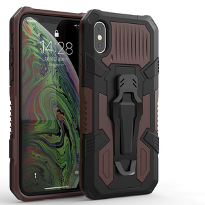 Heavy protection mech warrior Bring Bracket Phone Case For Huawei P Smart Z Y9S Y5P Y6P Y7P Nova 5T Honor 20 20S 9X 8S 9A Cover