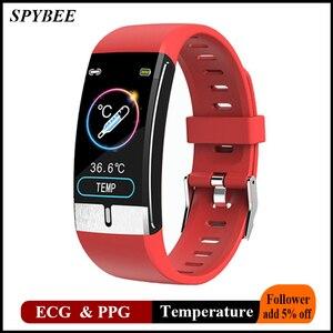 Image 1 - Monitor della temperatura corporea ECG PPG braccialetto intelligente uomo frequenza cardiaca AI Record Smart Band braccialetti Fitness Tracker impermeabili